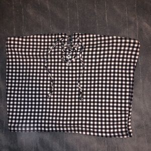 Pacsun gingham tube top